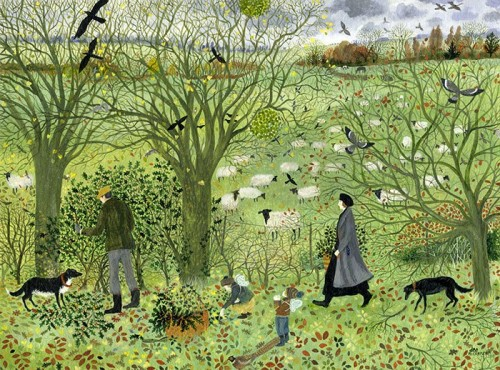 dee-nickerson-collecting-some-greenery-2015-30x40cm