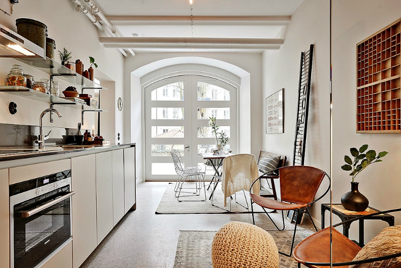 Como distribuir salón, cocina y comedor en un espacio alargado.