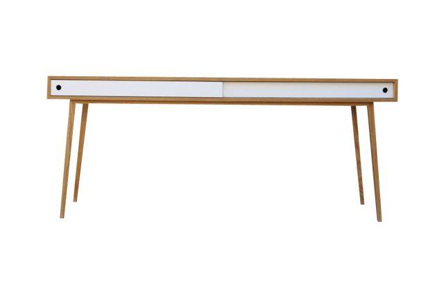 escritorio a medida estilo nordico blanco