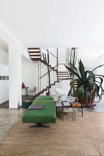 el verde y la madera salón