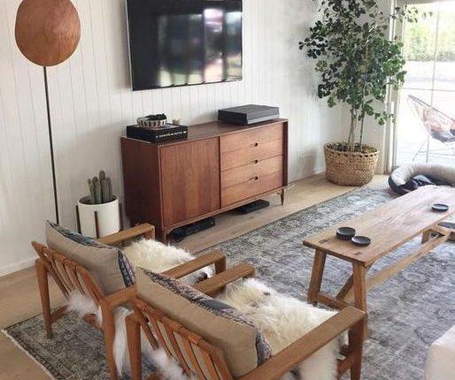 Mueble Tv madera natural