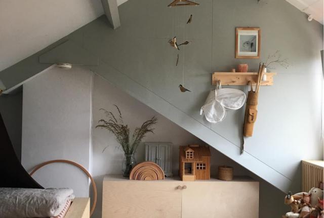 Habitación juegos casa Tinta muebles de madera